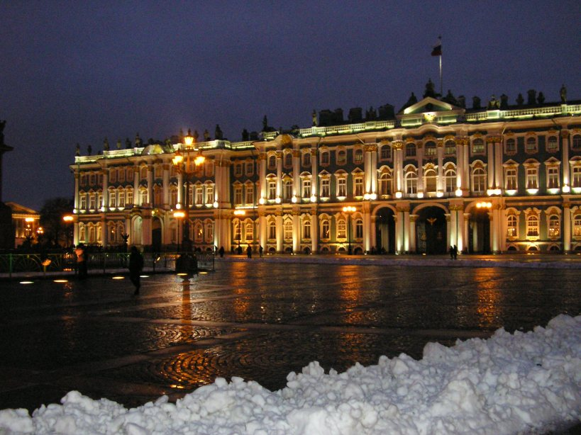 Hermitage in the evening.