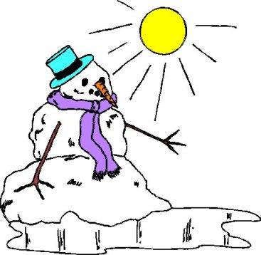 melting snowman