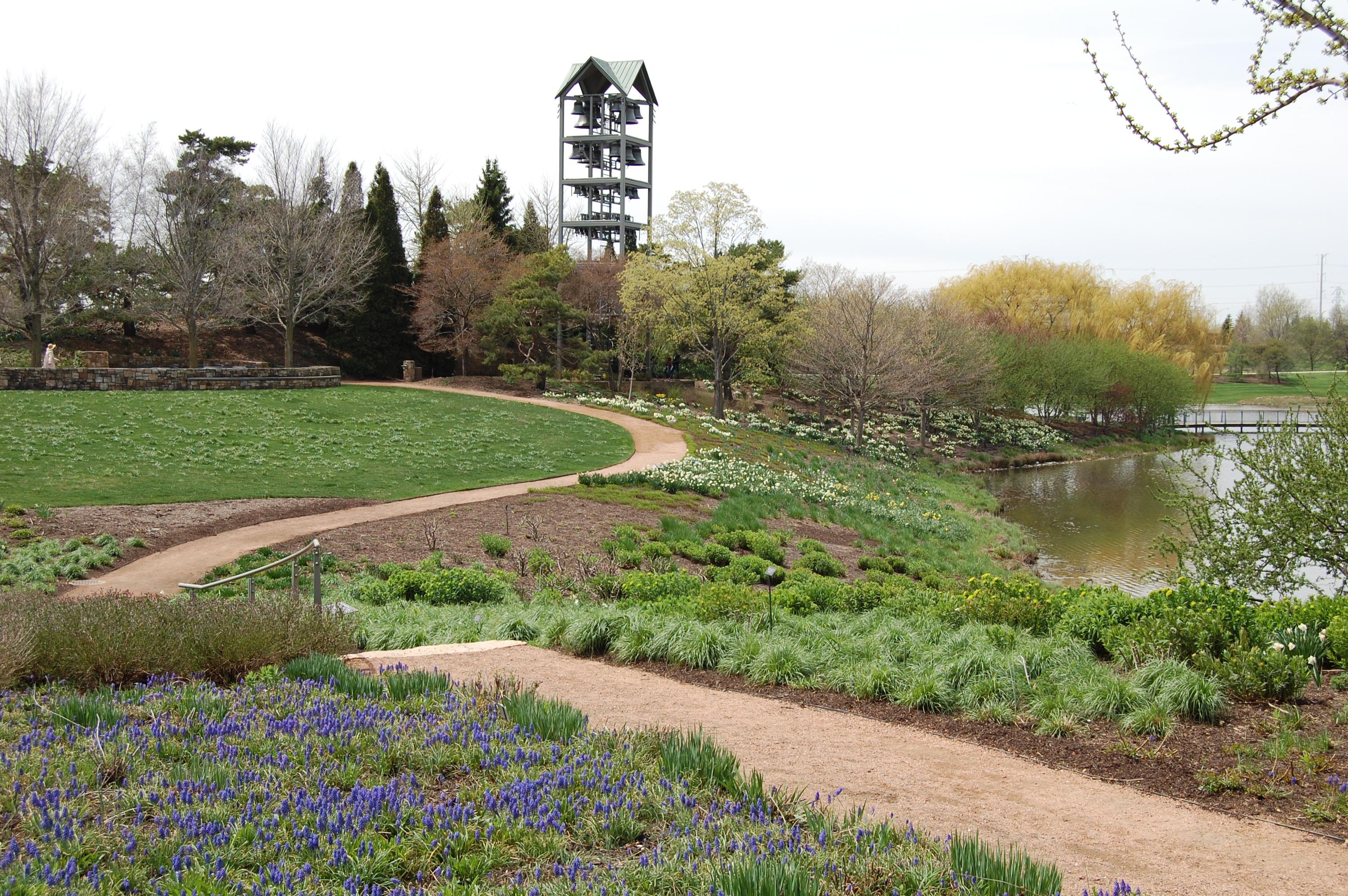 Carillon Tower, Chicago Botanic Garden, Evening Island