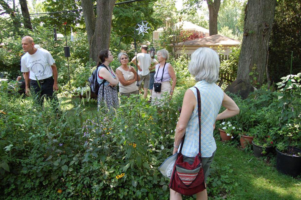 2012 Wild Ones garden tour in our garden.