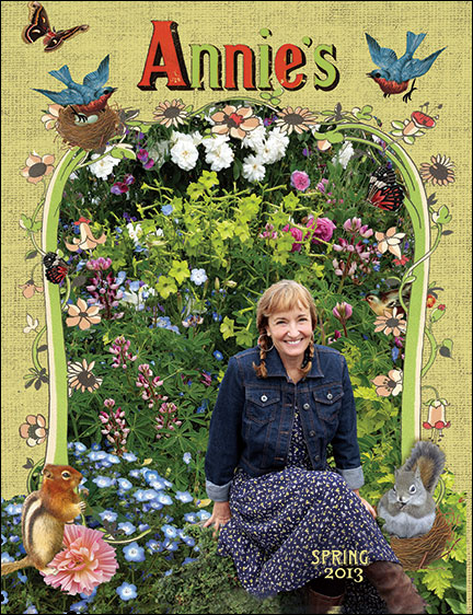 Annie Hayes on the cover of the Annie's catalog.