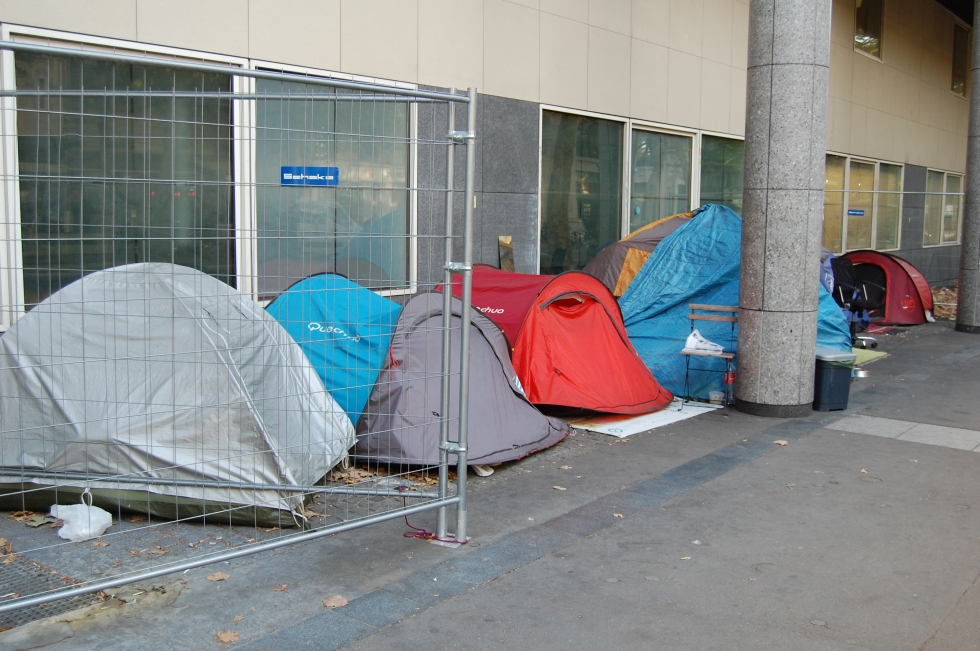 Homeless in Paris