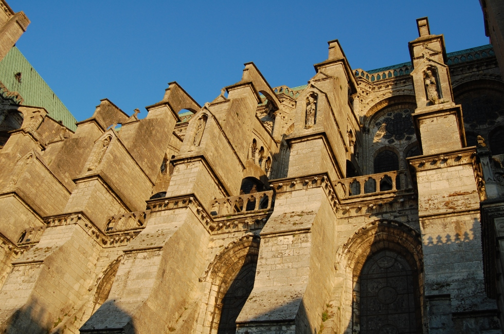 flying buttresses chartres