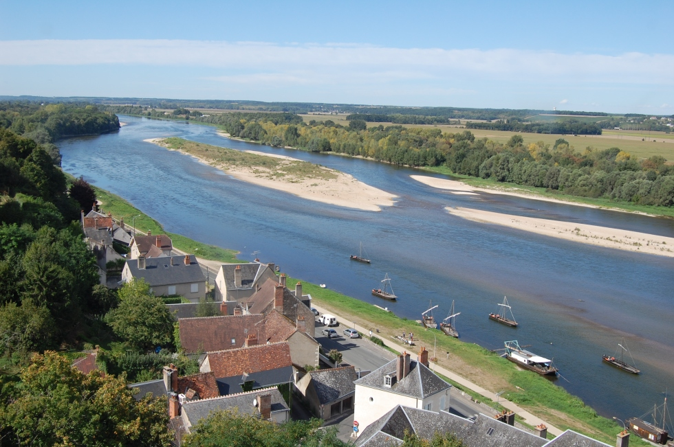 View of Loire from Chateau de Chaumont