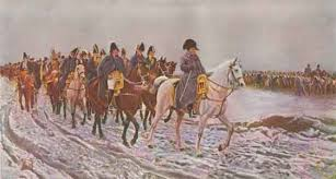 The retreat from Moscow, 1812