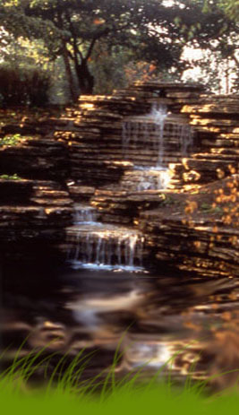 Columbus Park waterfall