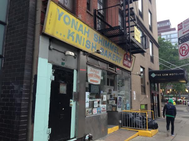 Yonah Shimmel's Knish Bakery.