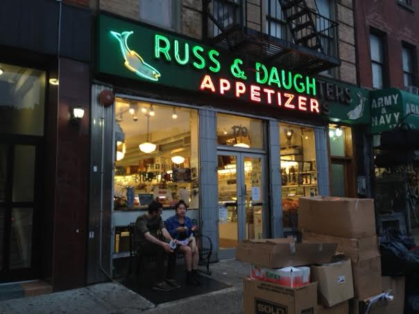 """Russ and Daughters. Motto: """"Appetizing Since 1914""""."""