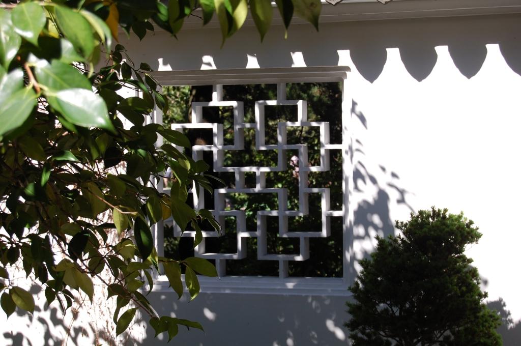 Window onto the scholar's garden.