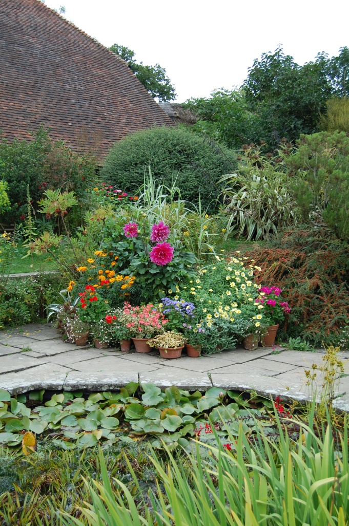 A grouping of containers at Great Dixter. As a combination, it is more than the sum of its parts.