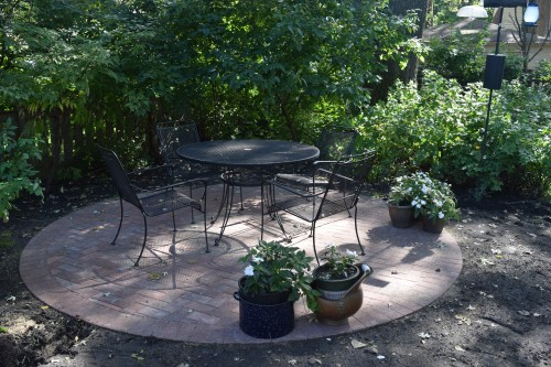The new patio.