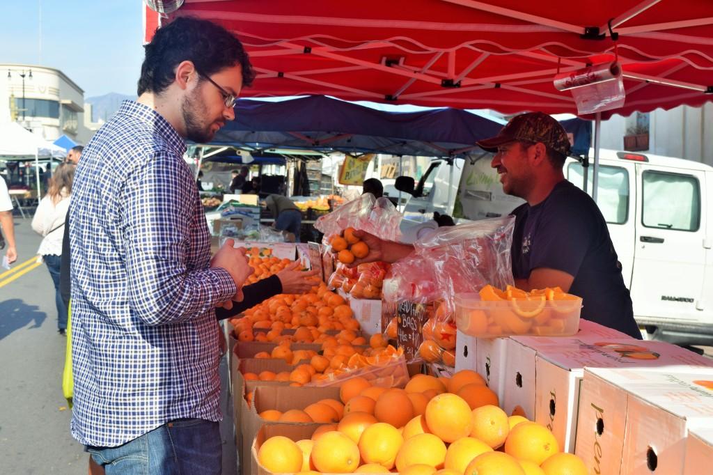 Danny buying oranges