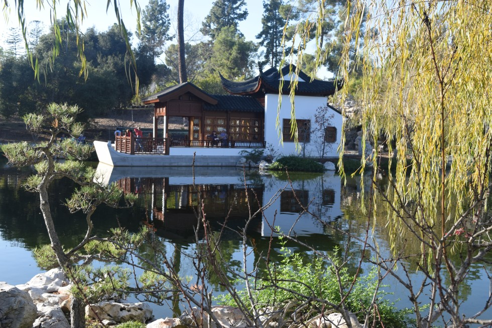 Chinese garden designers like faux barges like this one.