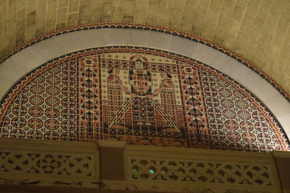 Mosaic in LA City Hall.