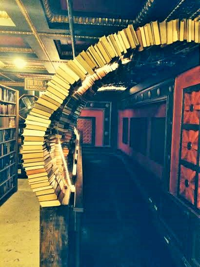 Arches of books at The Last Bookstore