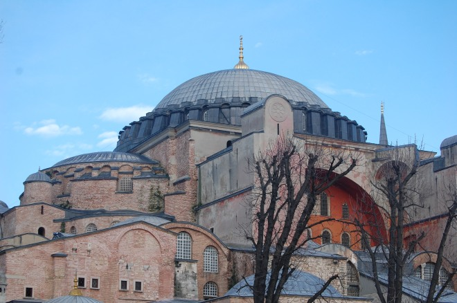 A view of Ayasofya's main dome.