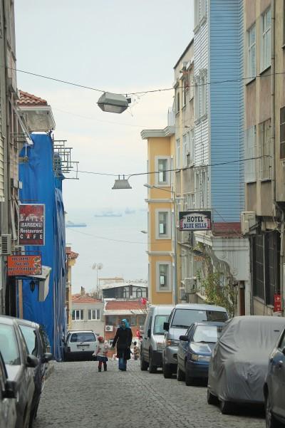 Street view of the Bosphorus.