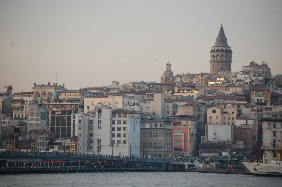 The Galata Tower from across the Golden Horn.