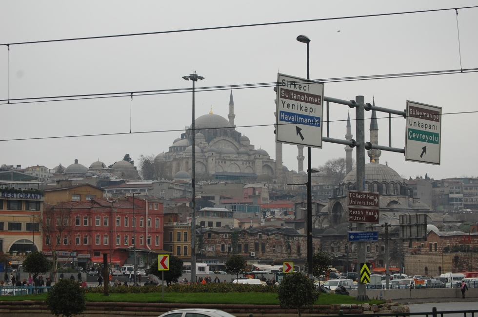 A view of the Ayasofya from Eminonu.