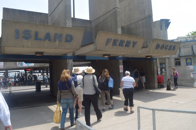 The ferry to Ward Island in downtown Toronto.