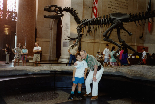 Dad and Daniel at the Museum of Natural History. This picture is from around 1995.