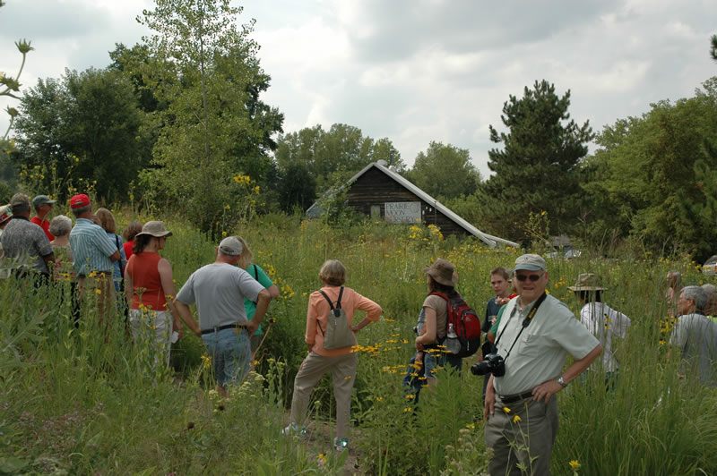 Visitors take a tour of Prairie Moon Nursery. Photo from www.prairiemoon.com.