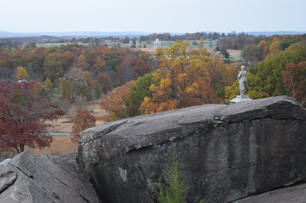 The view from Little Roundtop, at the Gettysburg battlefield.