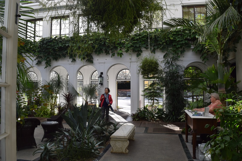 The atrium at the Peirce-Du Pont House.