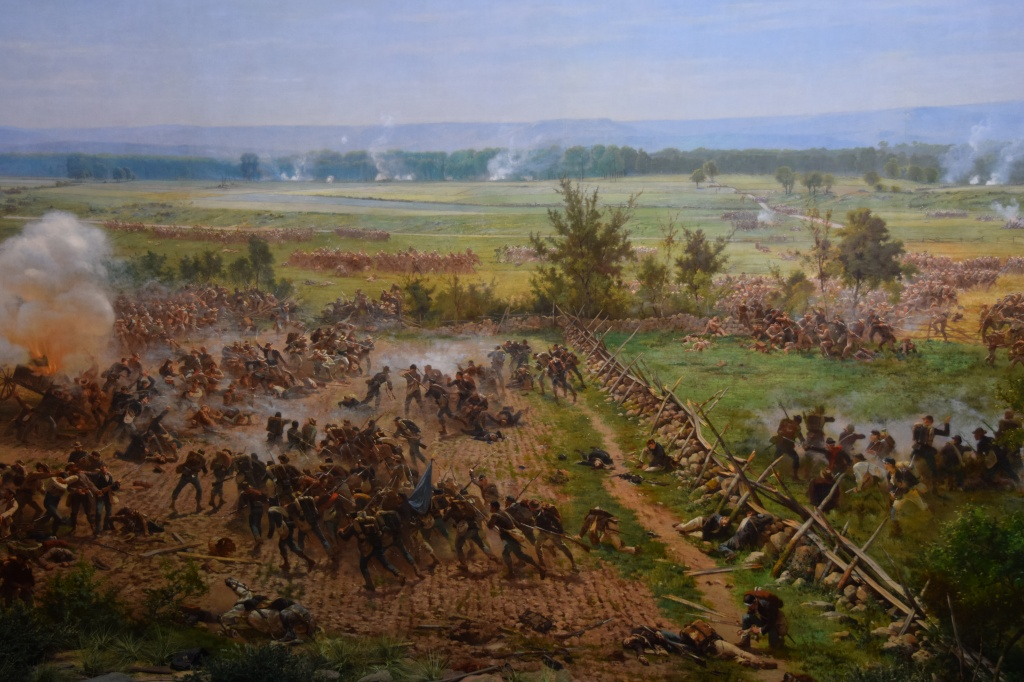 "From the Cyclorama ""Battle of Gettysburg""."