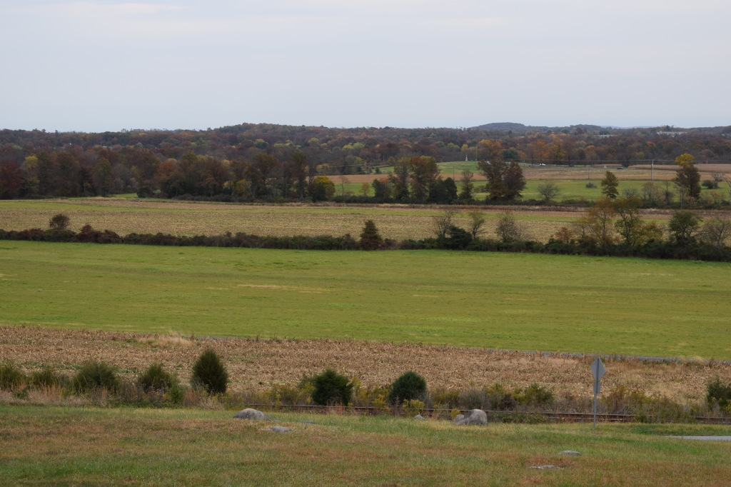 The view from McPherson Ridge, which saw fighting on the first day of the battle.